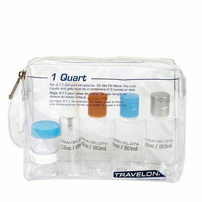 Travelon 1-Quart Zip Bag with Plastic Bottles (1 Quart Plastic Bag)