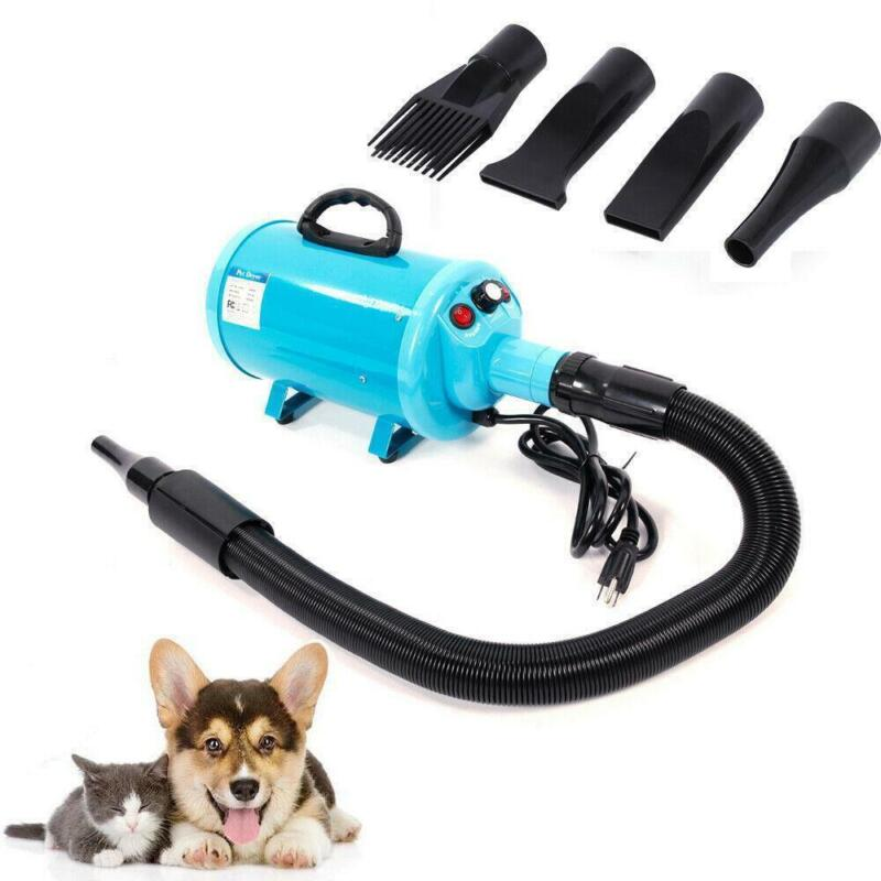 2800W Portable Dog Cat Pet Hair Grooming Dryer Blow Blaster Hairdryer Blue
