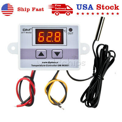 Ac110-220v Xh-w3001 Control Temperature Microcomputer Thermostat Switch W Probe