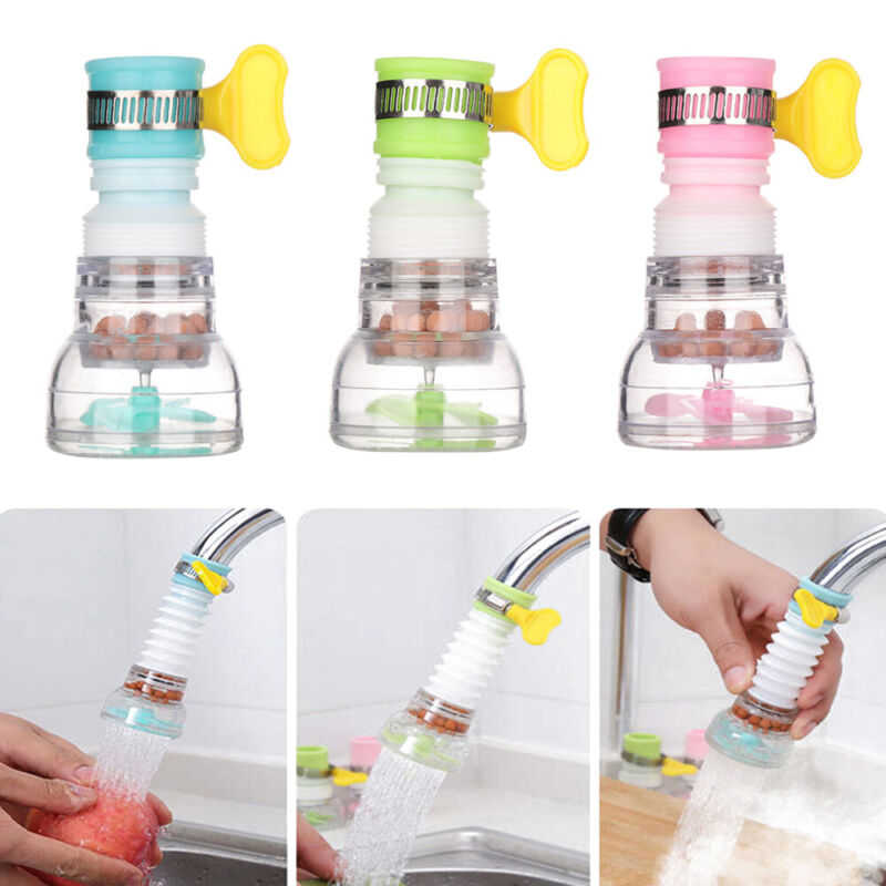 Extender Outlet  Adjustable Kitchen Faucet Tap Head Water Filter Splash-Proof