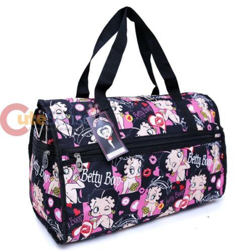 Betty Boop Duffle Bag Travel Diaper Gym Overnight Shoulder Bag Lovely Kiss