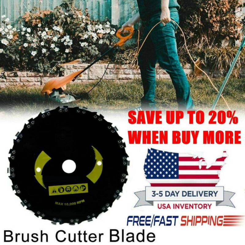 """Forester Chain Saw Tooth Brush Cutter Grass Blade 9"""" for Gas"""