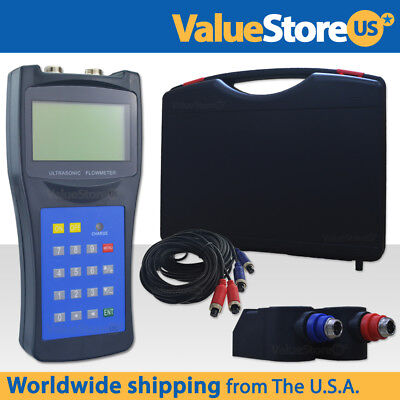 Ultrasonic Flow Meter With Transducers Portable Flowmeter Liquids Usf-100