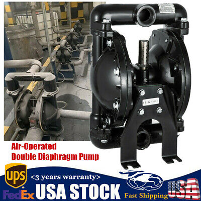 Air-operated Double Diaphragm Pump 35gpm 120psi Pneumatic Membrane Pump 1 Inlet