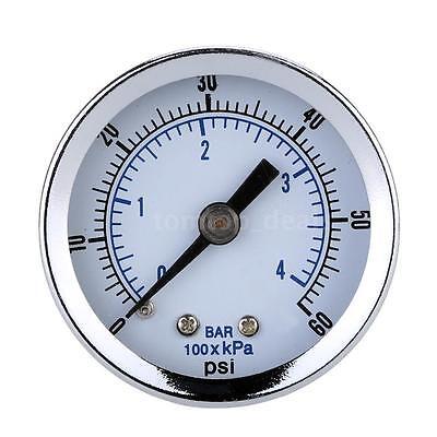 Air Compressor Hydraulic Pressure Gauge 0102030405060 Psi Back Mount K0l8