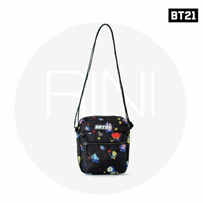 BTS BT21 Official Authentic Goods Space Squad Pattern Cross Bag +Tracking Num