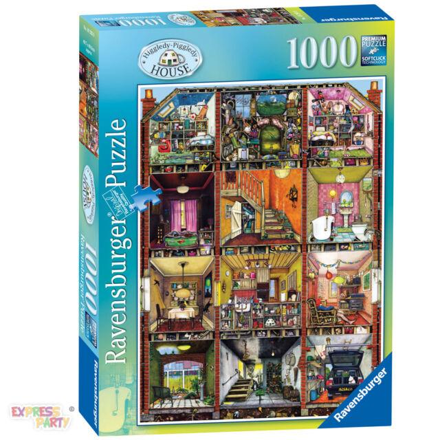 HIGGLEDY PIGGLEDY HOUSE COLIN THOMPSON 1000 PIECE RAVENSBURGER JIGSAW