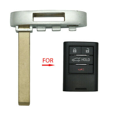 Smart Key Remote High Security Emergency Uncut Blank Blade Replacement for GM