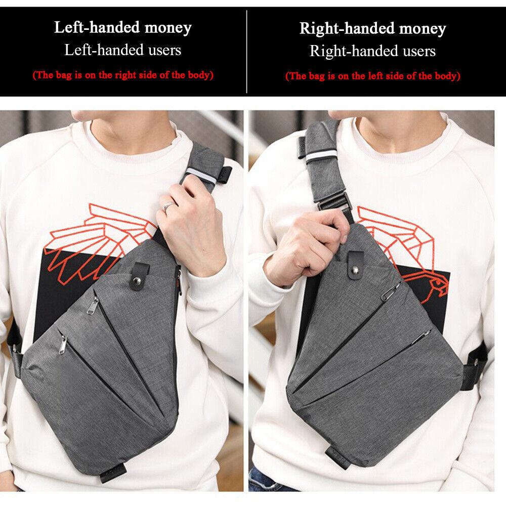 Waterproof Crossbody Personal Shoulder Pocket Bag Business T