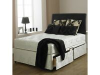 🌺🌺BRAND NEW 🌺🌺TOP QUALITY DOUBLE DIVAN BED WITH 9INCH THICK DEEP QUILTED MATTRESS- FAST DELIVERY