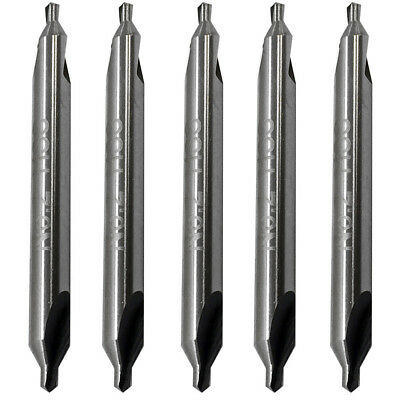 5 Pieces Number 2 Center Drill 60 Degree Hss Combined Countersink Bits Drilling