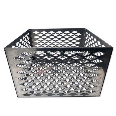 Charcoal basket fire box Oklahoma Joe longhorn highland BBQ Smoker STAINLESS