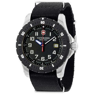 Victorinox Swiss Army Black Dial Black Nylon Strap Men's Watch 2416741