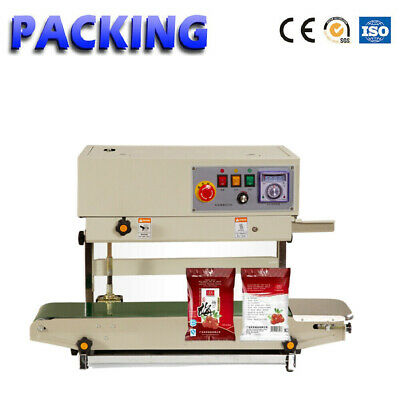 Fr-770 Vertical Bag Continuous Sealing Machine Plastic Band Dater Print Sealer