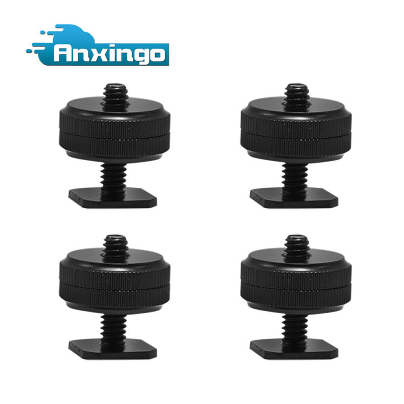 "4PCS Camera Hot Shoe Mount to Pro 1/4""-20 Mount Tripod Screw Adapter"
