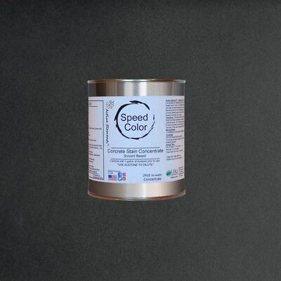 Fast Drying Concrete Paint Speed Color 24oz Concentrate Yields 1galpure Black