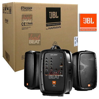 JBL EON206P Portable PA System with Powered Speakers Set w/ Mixer 632709973219, used for sale  Shipping to South Africa