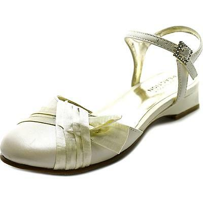 Kenneth Cole Ivory Dress  Shoes with Satin Ribbons Little Girls Size 11 1/2](Ivory Little Girl Dress Shoes)