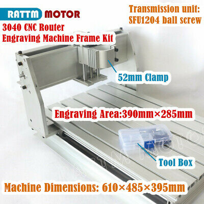 3040-52mm Clamp Rm1204 Ballscrew Cnc Wood Router Milling Engraving Machine Frame