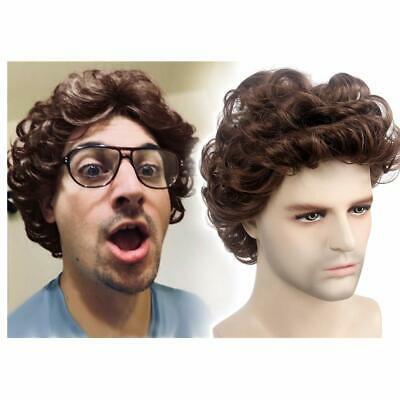 STfantasy Men Wigs Male Short Layered Curly Wavy Hair Daily Cosplay 12