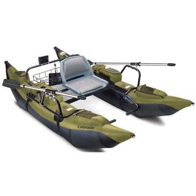 Colorado Inflatable Pontoon Boat With Motor Mount
