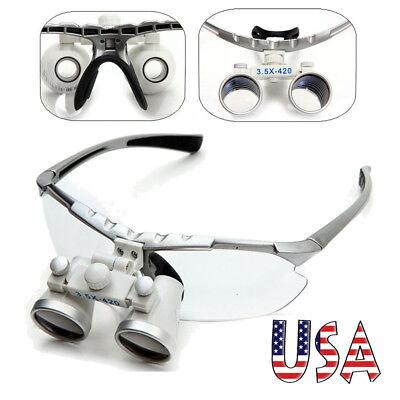 Usa Dental Surgical Medical Binocular Loupes 3.5x 420mm Optical Glass Magnifier