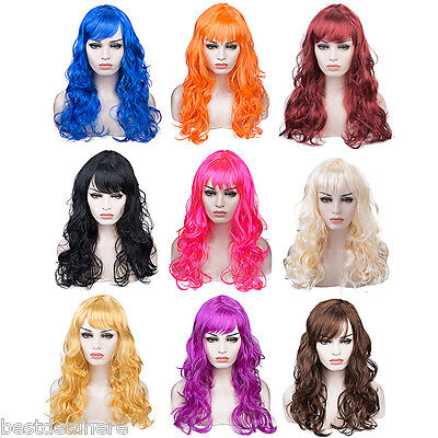 Costumes For Big Women (Women Long Big Curly Wig Hair Cosplay Party Costume 20INCH Full Wigs For)