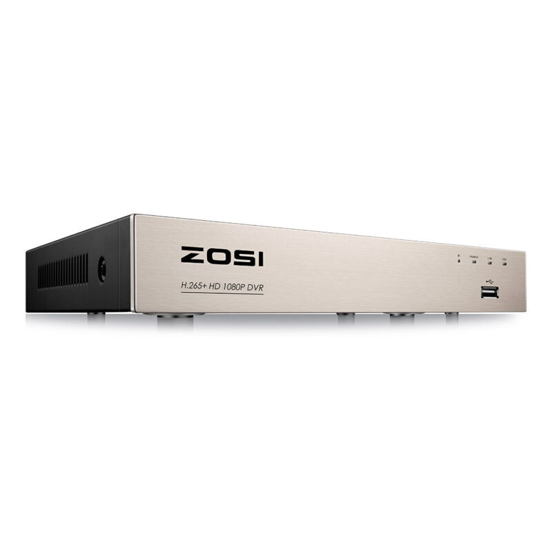 ZOSI H.265+ Security DVR 8CH Channel 1080p Recorder for CCTV Surveillance Camera