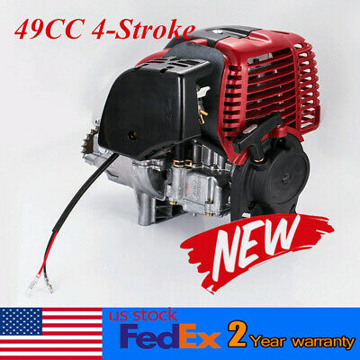 49cc 4 stroke Pull Start Engine Motor for Mini Pocket Scooter Chopper Dirt Bike ()
