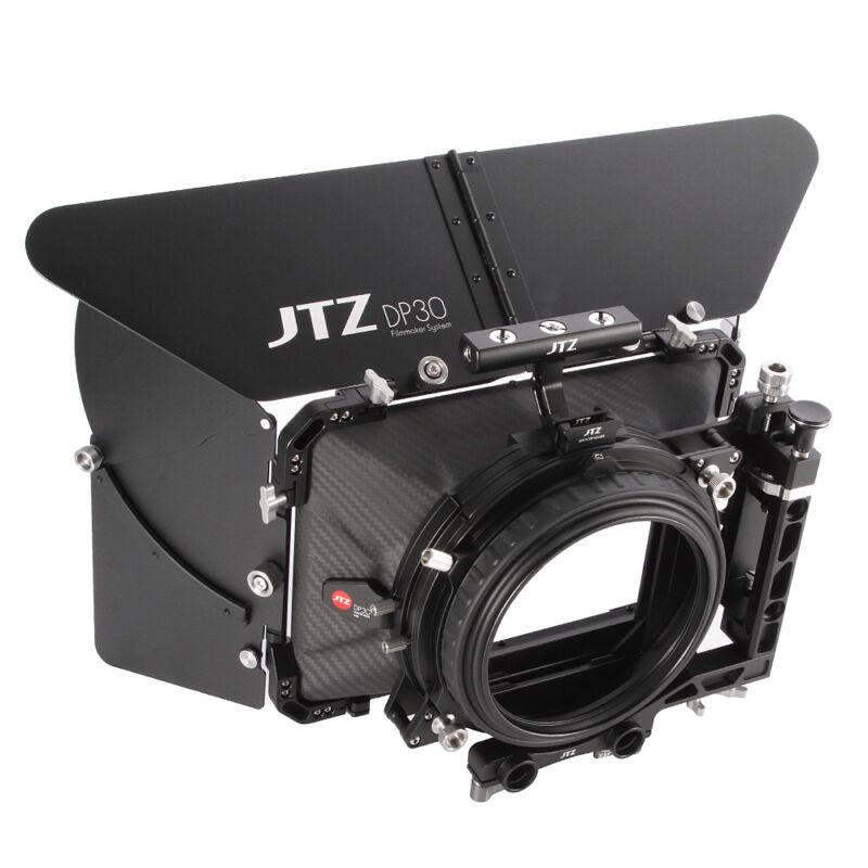 "【US】JTZ DP30 Cine Carbon Fiber 4x4""Matte Box 15/19mm FOR DSLR Camera Sony Canon"