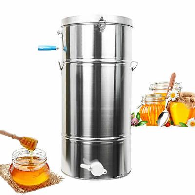 Stainless Steel 2 Frame Honey Extractor Manual Beekeeping Equipment Honeycomb Us