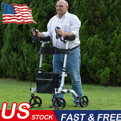 BEYOUR WALKER Upright Rollator Walker Euro Style Stand Up Walking Medical Aid US