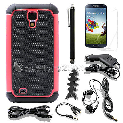 NEW Hybrid Impact Hard Soft Black Case Cover for SAMSUNG GALAXY S IV S4 i9500  on Rummage