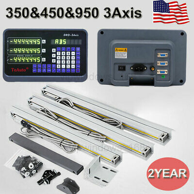 3axis Digital Readout Display Linear Scale Encode For Mill Lathe Cnc 141838