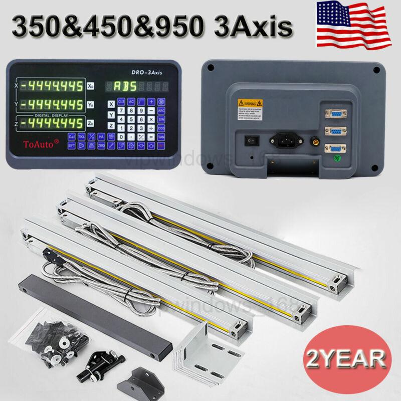 3Axis Digital Readout DRO TTL Linear Glass Scale Bridgeport Mill 350&450&950mm