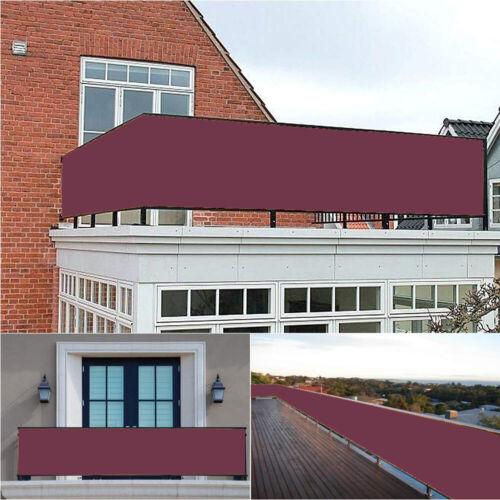 Balkon Sichtschutz Zaun Premium Balkonbespannung mit Ösen /& Kabelbinder Weinrot