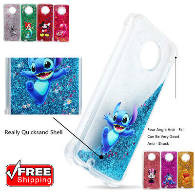For MOTO G6 G6 Play Cute Disney Cover Glitter Quicksand Shockproof Silicone Case ()