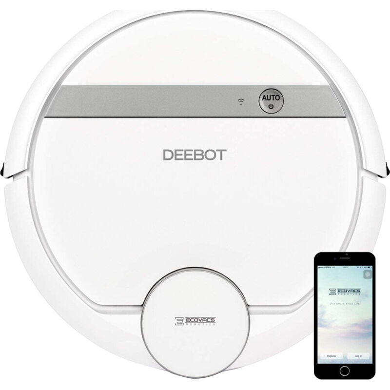 ECOVACS DEEBOT 907 Smart Robot Vacuum Cleaner for Carpet, Floors, and Pet Hair