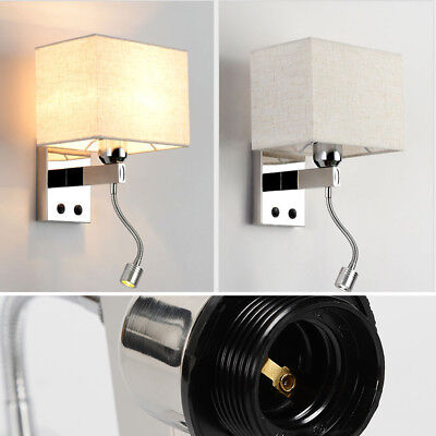Led Bed Lamp, Minimalist LED Reading Working Light Lamp Wall Mount Bedside TOP ()