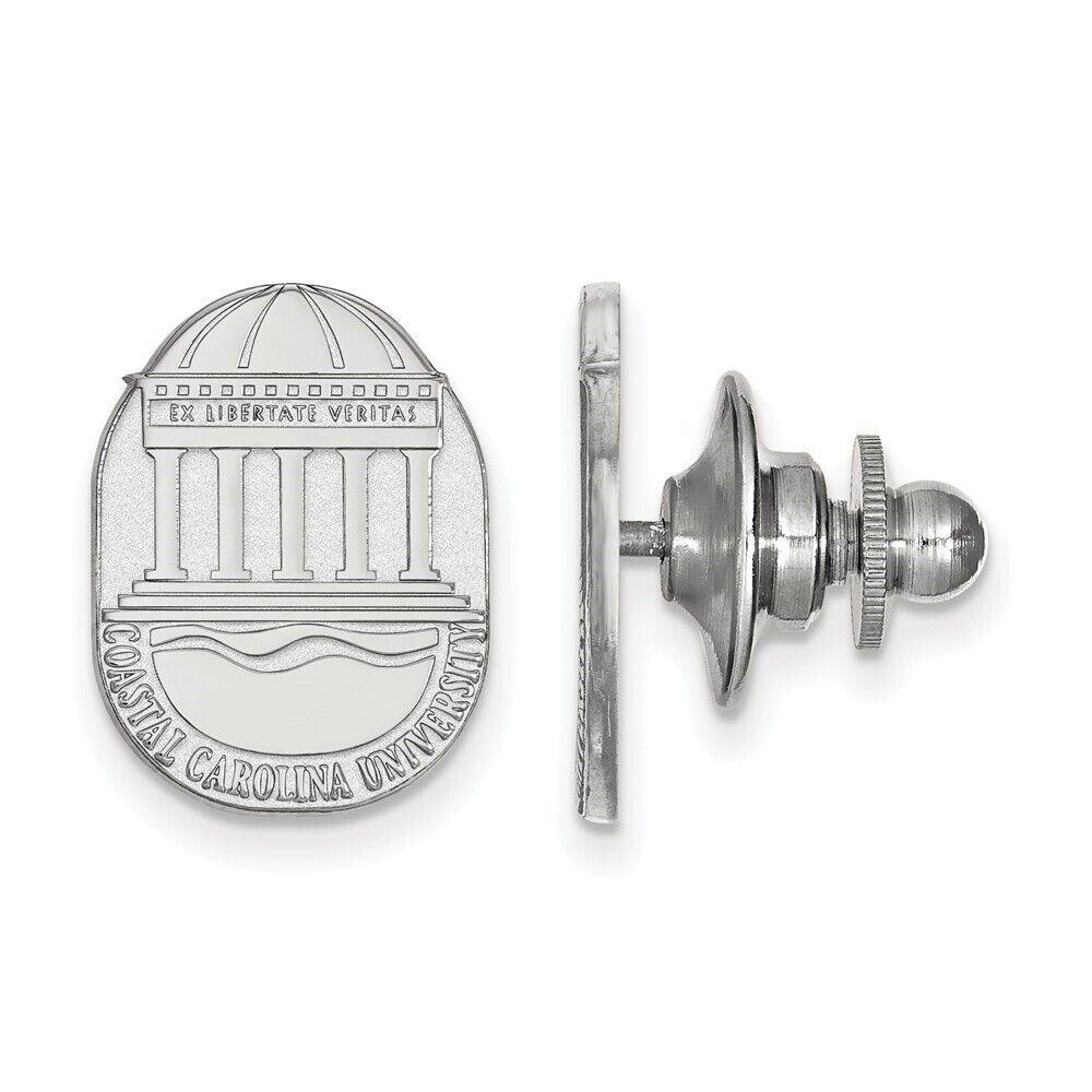 Antique Finish Sterling Silver Coastal Carolina Chanticleers 1 Pendant Necklace