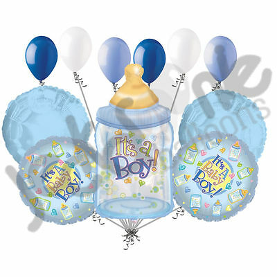 Welcome Home Baby Shower (11 pc It's a Boy Bottle Balloon Bouquet Decoration Baby Welcome Home Shower)