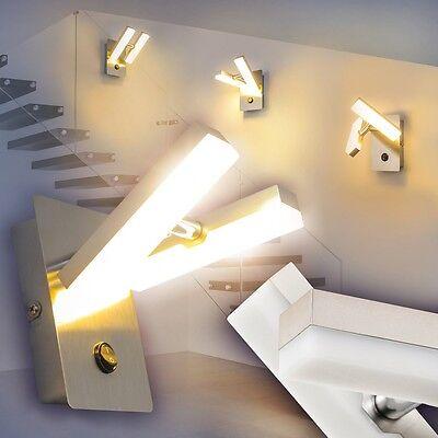 LED Wandlampe Schlaf Wohn Zimmer Lampen Flur Wand Leuchten Strahler schalter