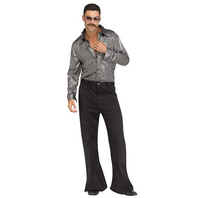 Mens Silver Disco King Costume size S/M 32-34