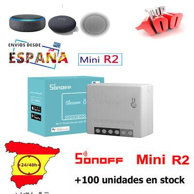 SONOFF MINI R2 interruptor inteligente wifi compatible con ALEXA GOOGLE HOME.
