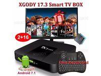 2017 TX3mini NEW 17.3 Android 7.1.2 Quad Core Smart TV BOX Keyboard 2GB+16GB HD