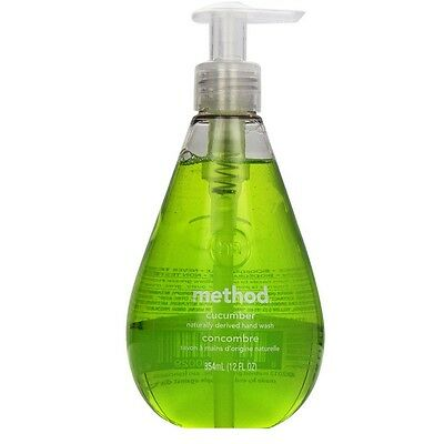 Method Gel Hand Wash, Cucumber 12 oz (Pack of 3)