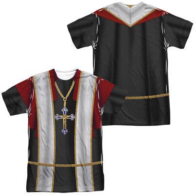 PRIEST COSTUME Adult Men's Graphic Tee Shirt SM-3XL Halloween  - Halloween Priest