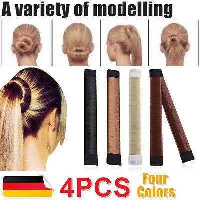 4X Dutt Knotenring Haarknoten Frisurenhilfe Hair Bun Donut Volumizing Scrunchie