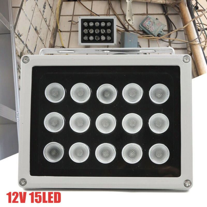 15 LED IR Illuminator Infrared Security Floodlight For Night Vision CCTV 12V New