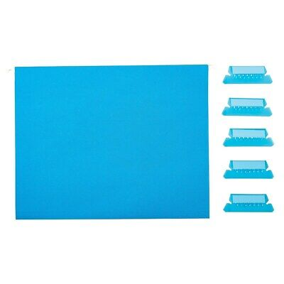 Staples Hanging File Folders 5-tab Letter Size Blue 25box 163501